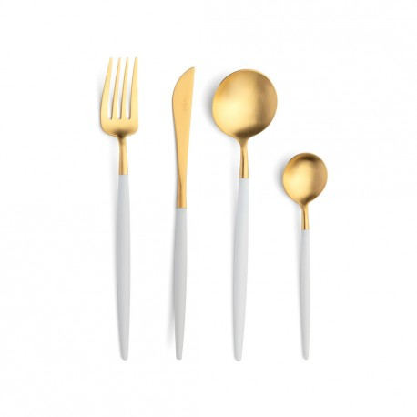 Cutlery Set - 24 Pieces - White