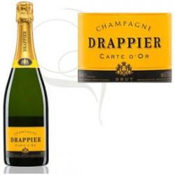 1/2 BOUTEILLES CHAMPAGNE DRAPPIER CARTE D'OR BRUT 37,5 CL