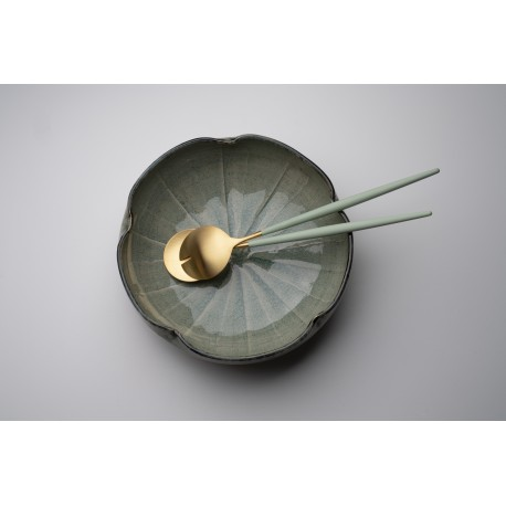 Cutlery Set - Salat server - White