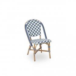 Chaise Sofie, tressage étoile tricolore - Sika Design
